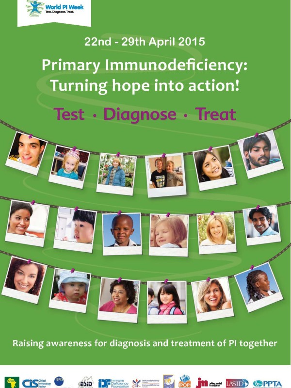 World Primary Immunodeficiency Week Poster